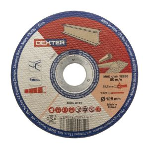 DEXTER BONDED DISC  FOR METAL/ STAINLESS STEEL  D125X1X22,23 PCS1