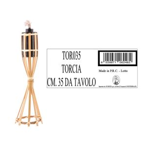 TORCIA IN BAMBOO CON BASE CM 35